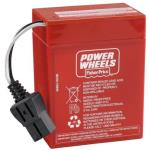 Battery Red A  6V. 9.5Amps