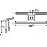 Stainless Steel Twin H Burner 10602-70301