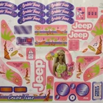 DECALS FOR BARBIE JEEP cruse in  N. L. A.