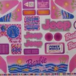 DECAL FOR BARBIE BEACH RANGER