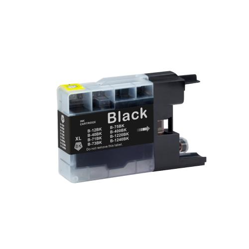 Brother LC75BK Compatible Black Ink Cartridge High Yield