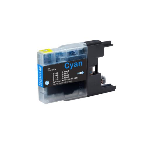 Brother LC75C Compatible Cyan Ink Cartridge High Yield
